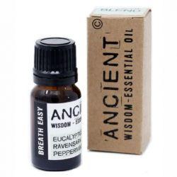 Amestec de uleiuri esentiale Breath Easy (eucalipt, ravensara, menta), 10 ml
