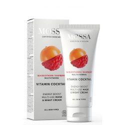 """Crema de noapte & masca VITAMIN COCKTAIL """"MULTI-USE"""", toate tipurile de ten - 50 ml"""