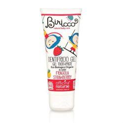 Pasta de dinti gel bio Capsuni, fara fluor, homeopata, pentru copii - 75 ml