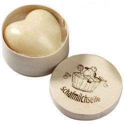 Sapun cremos cu lapte de oaie - inimioara - in cutie cadou - 65 g