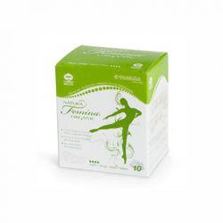 Absorbante de noapte din bumbac organic, biodegradabile, 10 buc. (4 picaturi)