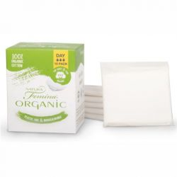 Absorbante de zi din bumbac organic, biodegradabile, 10 buc. (3 picaturi)