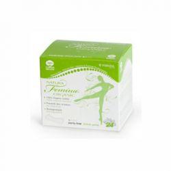 Absorbante zilnice din bumbac organic, biodegradabile, 24 buc. (1 picatura)