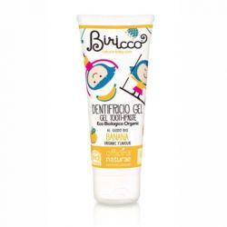 Pasta de dinti gel bio Banane, fara fluor, homeopata, pentru copii - 75 ml